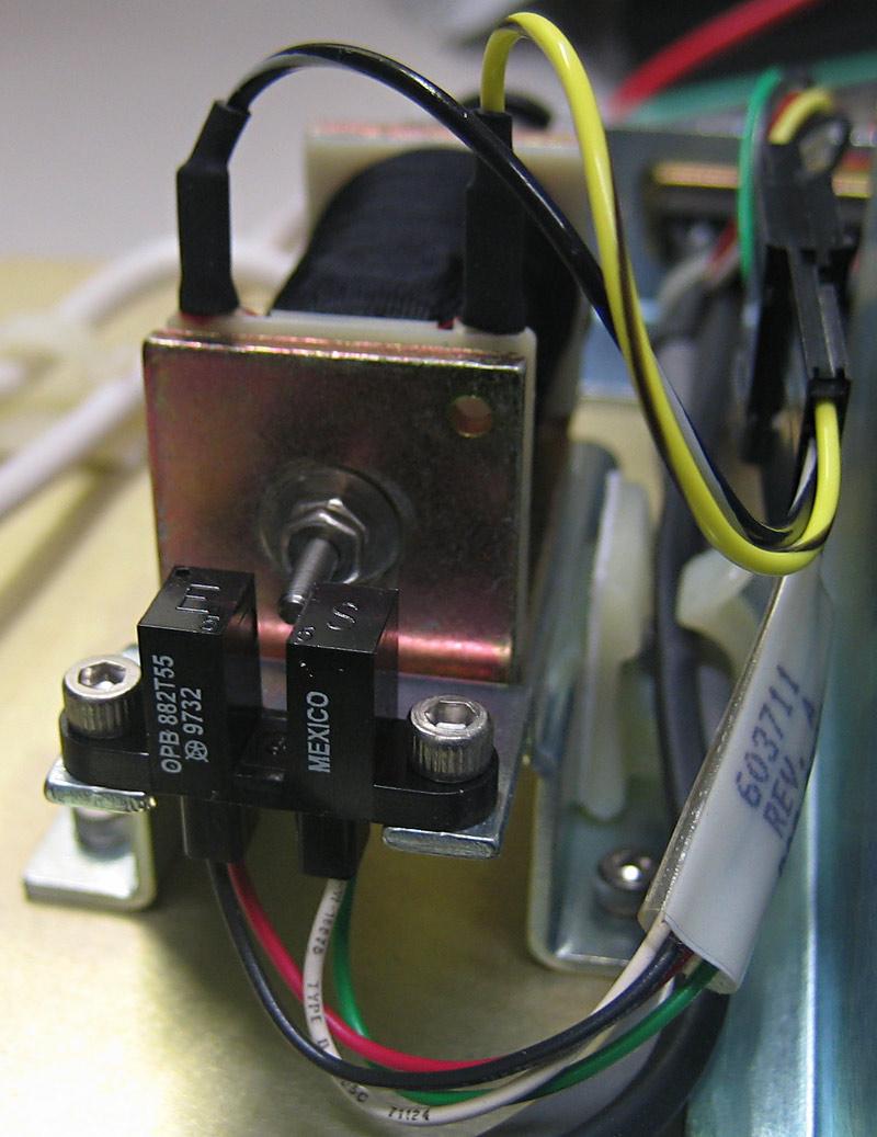 detailed view on an abi 310 buffer valve solenoid with optical sensor M12 Sensor Wiring
